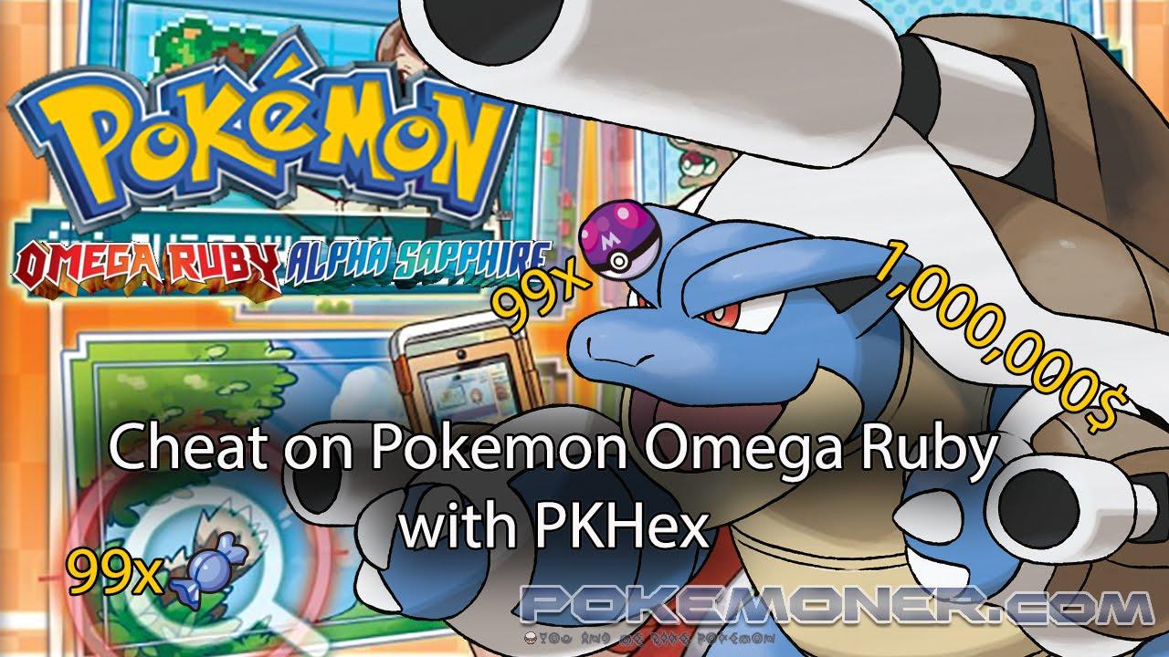 Cheat on Pokemon Omega Ruby with PKHex
