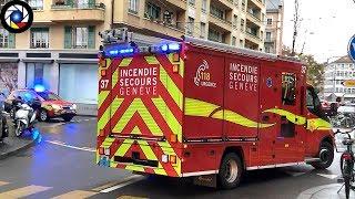 Départ Incendie Sapeurs-Pompiers // Geneva Fire Dept. responding