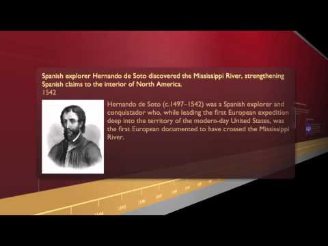 U.S. History & Explorers 3D Timeline - 16th century