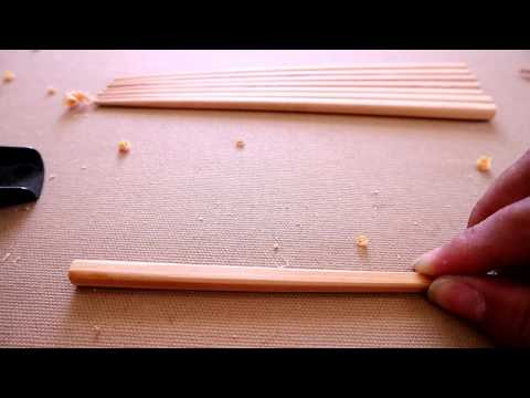 DUO hand-made Kodate Handed and electro cauterized cypress chopsticks