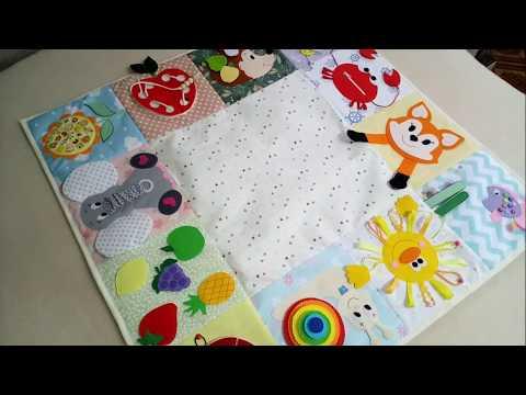 Развивающий коврик своими руками для детей от 0 до 3