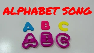 Alphabet Song Lullaby Learning ABCs with Play Doh and Rainbow Colors