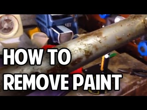 How To Remove Paint From Your Bicycle Frame Youtube