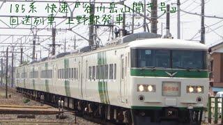 185系 快速『谷川岳山開き号』 回送列車上野駅発車