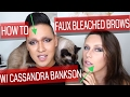 How to Faux Bleach your Brows with Cassandra Bankson | MAKEUP TALKS