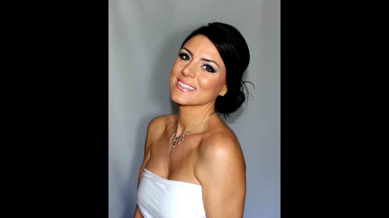 brunette bride makeup