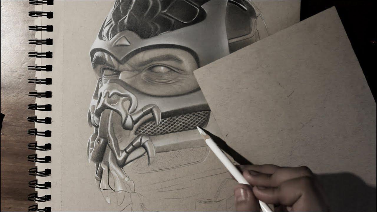 Mortal Kombat Drawing Scorpion Youtube