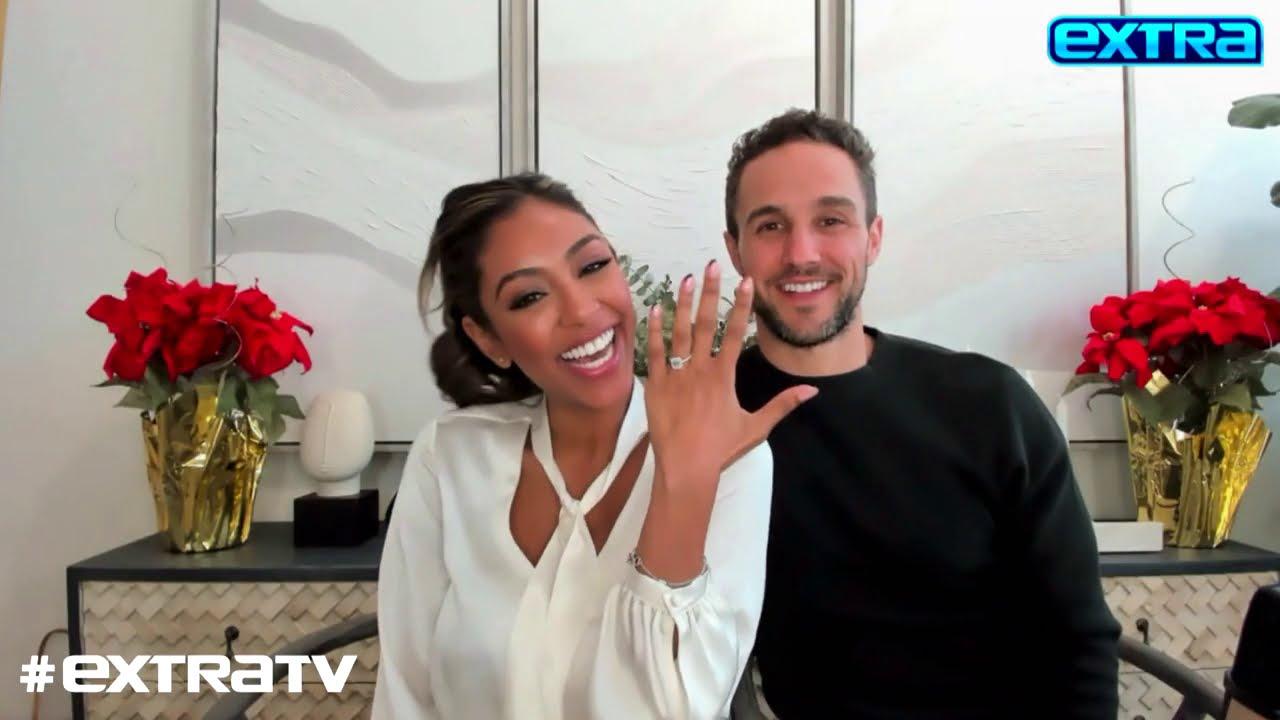 'Bachelorette' Couple Tayshia Adams & Zac Clark Talk Wedding Plans 'DWTS' and More – extratv