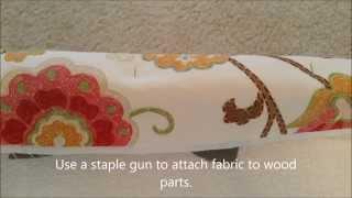 DIY Fabric Covered Window Cornice with Wood and Styrofoam