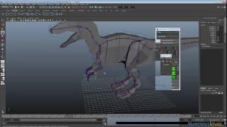 KK Denetleyicileri kullanarak Animasyon Maya bir Dinozor 15 Adım 5