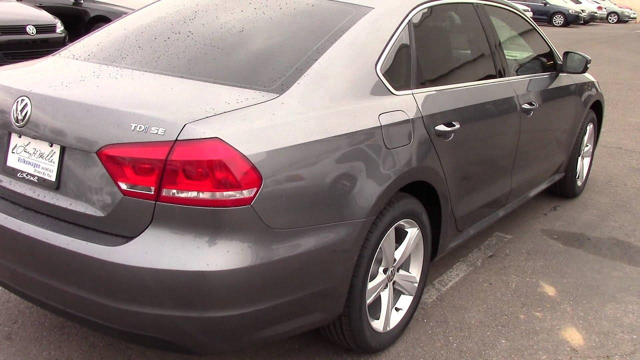 Larry Miller Volkswagen >> NEW 2014 Volkswagen Passat 4dr Sdn 2.0L Manual TDI SE - YouTube