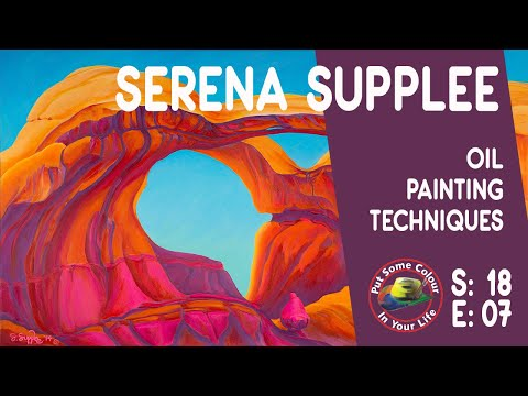 Oil painting techniques and tutorial with Serena Supplee I Colour In Your Life