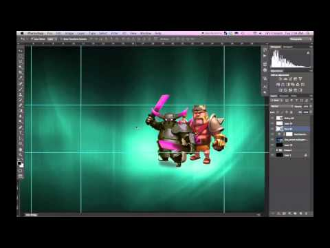 Design Tutorial #1 - Clash of Clans Banner - Photoshop CS6