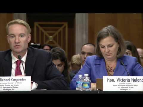 NATO viability: Sen. Kaine prods Nuland & Carpenter. 07 June 2016