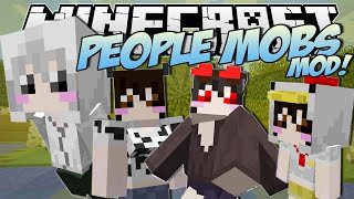 Minecraft | PEOPLE MOBS MOD! (Any Mob Turns into a HUMAN!) | Mod Showcase