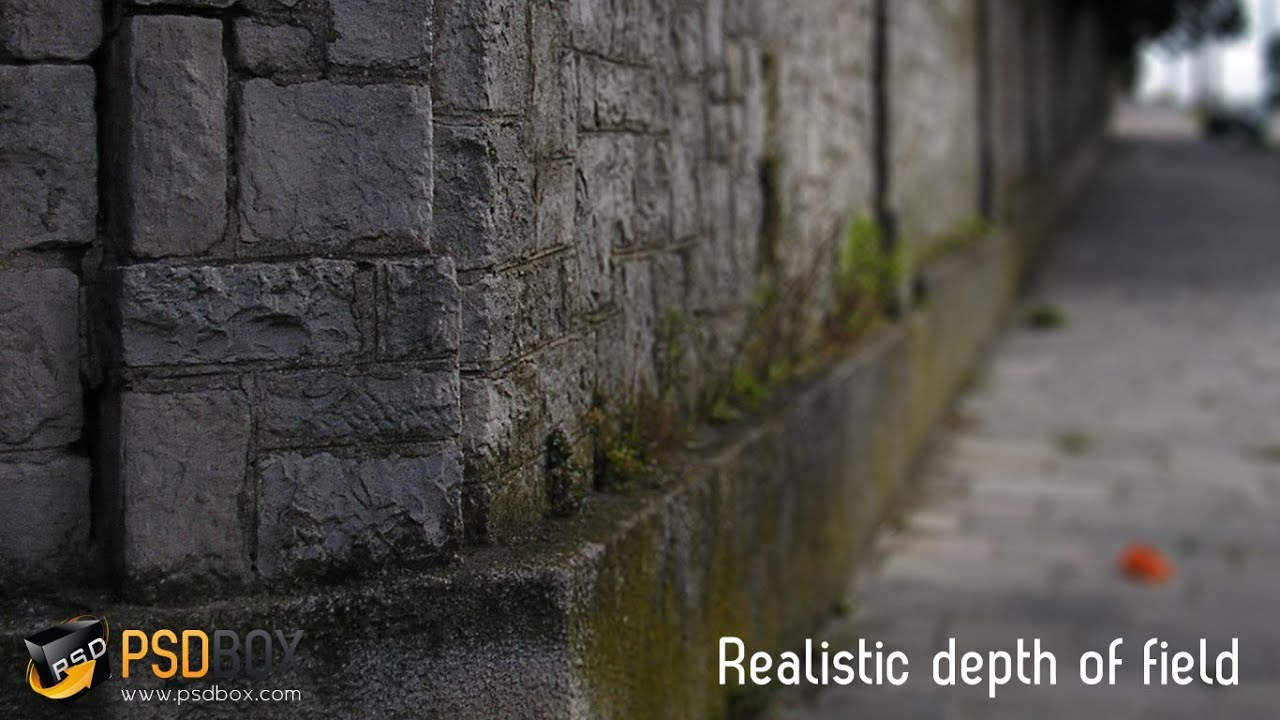 quick tutorial realistic depth of field in photoshop
