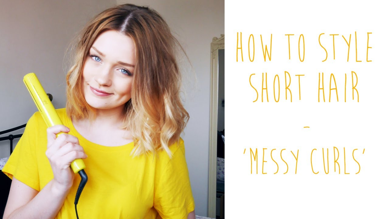 HOW-TO: MESSY CURLS FOR SHORT HAIR