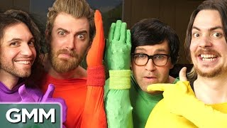 Is that a fish up your sleeve? GMM #824! Check out the GameGrumps at http://youtube.com/gamegrumps Good Mythical MORE: https://youtu.be/FTnnwzngF44 ...