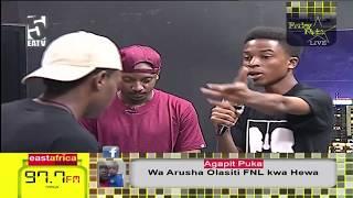 Toxic Fuvu na Bars Writer uso kwa uso kwenye rap battle ya FNL.