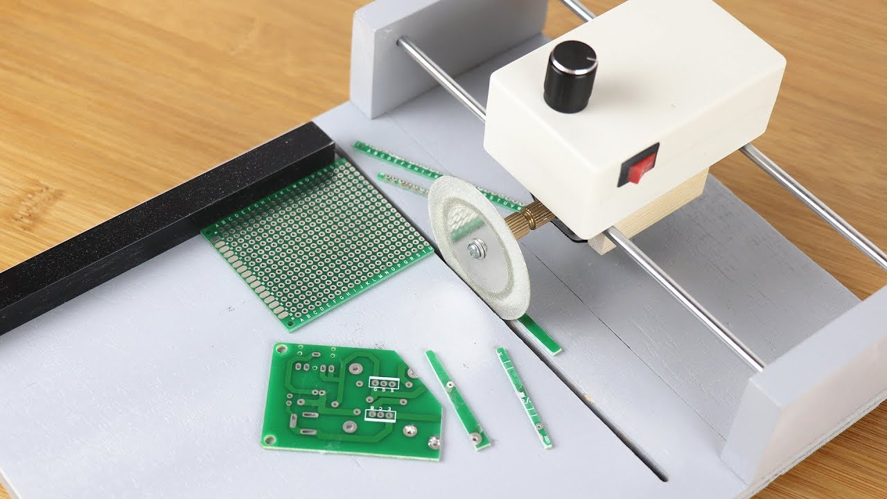 How To Make PCB Circuit board Cutting Machine by KJDOT