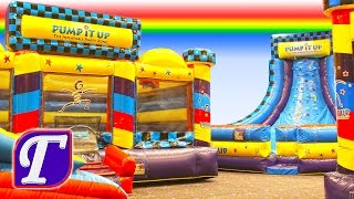 1000 Улыбок Для Детей Надувные Батуты Горки Супер Место Развлечений Для Детей Pump it up Влог Kids