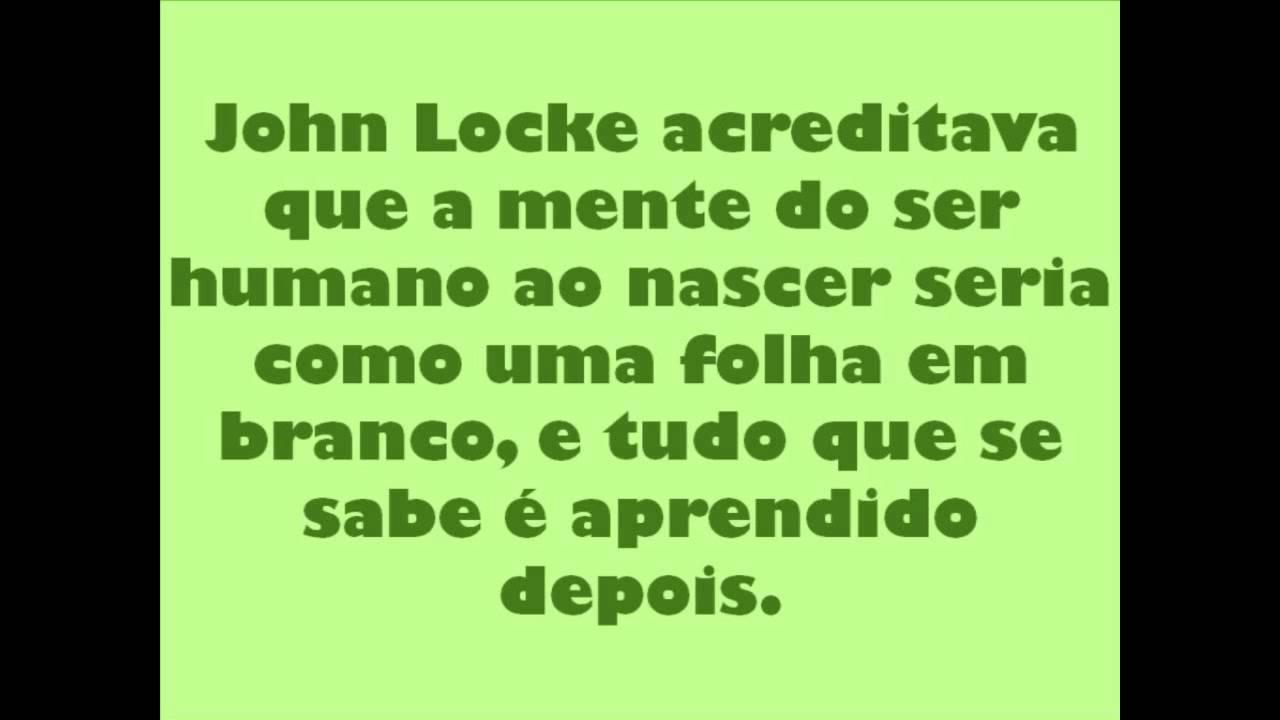 JOHN LOCKE, DEFENSOR DO DIREITO NATURAL
