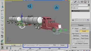 البرنامج التعليمي على كيفية إنشاء الرسوم المتحركة تلاعب مزدوجة مقطورة شاحنة و كيفية توصيله إلى الفل