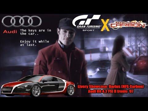 GT Sport - Livery Showcase: Darius (NFS Carbon)   Audi R8 4.2 FSI R tronic '07