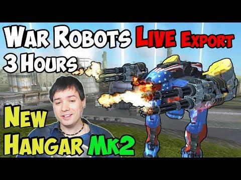 3 Hours WAR ROBOTS Gameplay - Awesome New Mk2 Hangar & Challenge Winners WR