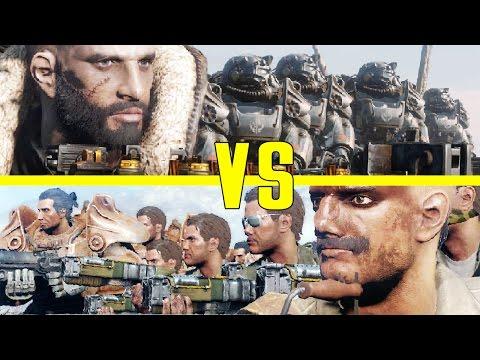 BoS Army VS Gunner Army! - Elder Maxson attacks Gunner HQ - Fallout 4 NPC War