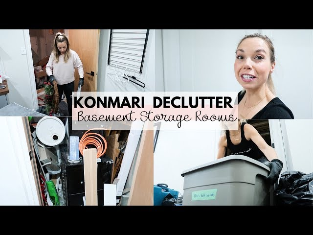 KONMARI Basement Storage Room Declutter | Part 1 | Storage Room Purge