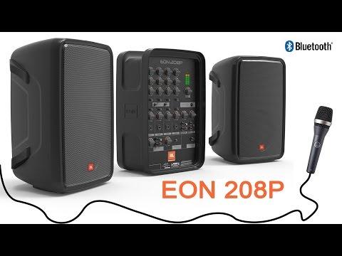 JBL Professional ម៉ូឌែល EON 208P ជាឈុត Karaoke ពិសេសមាន Mix និងក្បាលមេក្រូស្រាប់ | Camtoptec Shop