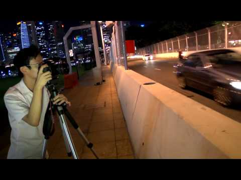 Shooting at the F1 Night Race,  CNET Asia F1 special