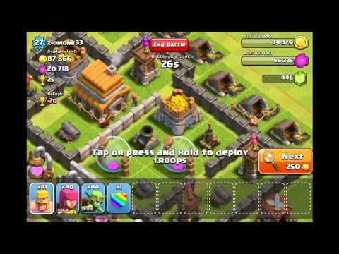 Làm nhiệm vụ Kiếm 450 gems trong clash of clans (HD)