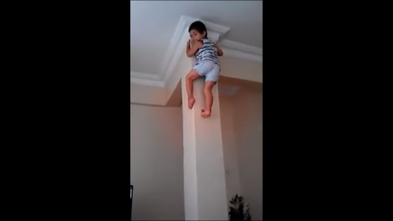 my kid climbs the walls like spiderman..