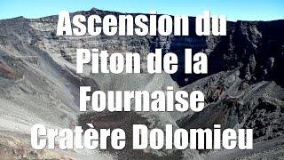 Ascension du Piton de la Fournaise (cratère Dolomieu) La REUNION + Survol hélicoptère
