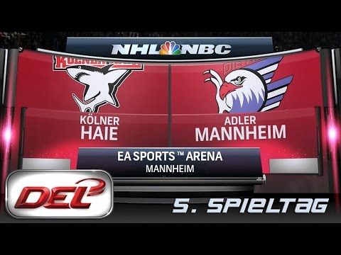 Deutsche Eishockey Liga [DEL] #005 - Adler Mannheim - Kölner Haie ★ Let's Commentary NHL 15