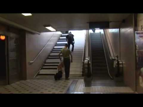 Subway Station in Stockholm - piano stairs