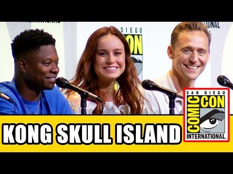 KONG SKULL ISLAND Comic Con Panel - Tom Hiddleston, Brie Larson, John Goodman