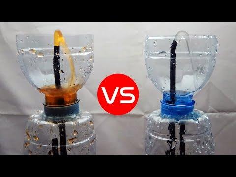 UNIK..!! Kreasi Air Mancur Mini dari Sedotan dan Botol Plastik Bekas Air Mineral