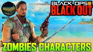 UNLOCKING ZOMBIES CHARACTERS IN BLACKOUT!!! (Black Ops 4 Blackout)
