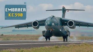KC 390 O Avião Militar da Embraer na Maior Pista do Hemisfério Sul
