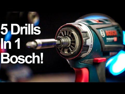 5 DRILLS IN 1 - THE BEST DRILL DRIVER I'VE SEEN - Bosch GSR 18v Flexi Click