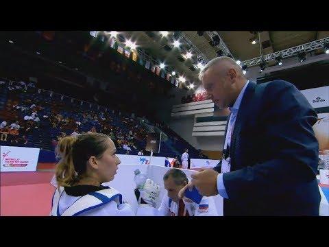 Semifinal F+67 Moscow 2017 World Taekwondo Grand-Prix IVANOVA Olga (RUS) vs KIM Bich-Na (KOR)