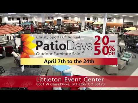 Christy Sports Patio Days   3 Week Patio Furniture Sale Event   15sec