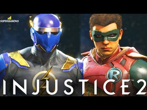 Injustice 2: The Flash, Robin & More Gear Showcase For All Characters! (Injustice 2 Gear)