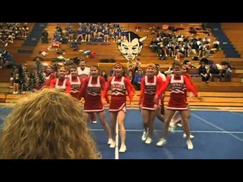 Dexter Regional High School Cheering at the Lewistion Shriners Invitational 2011