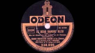 Le Beau Danube Bleu chanté en français! 1931 - Valse viennoise