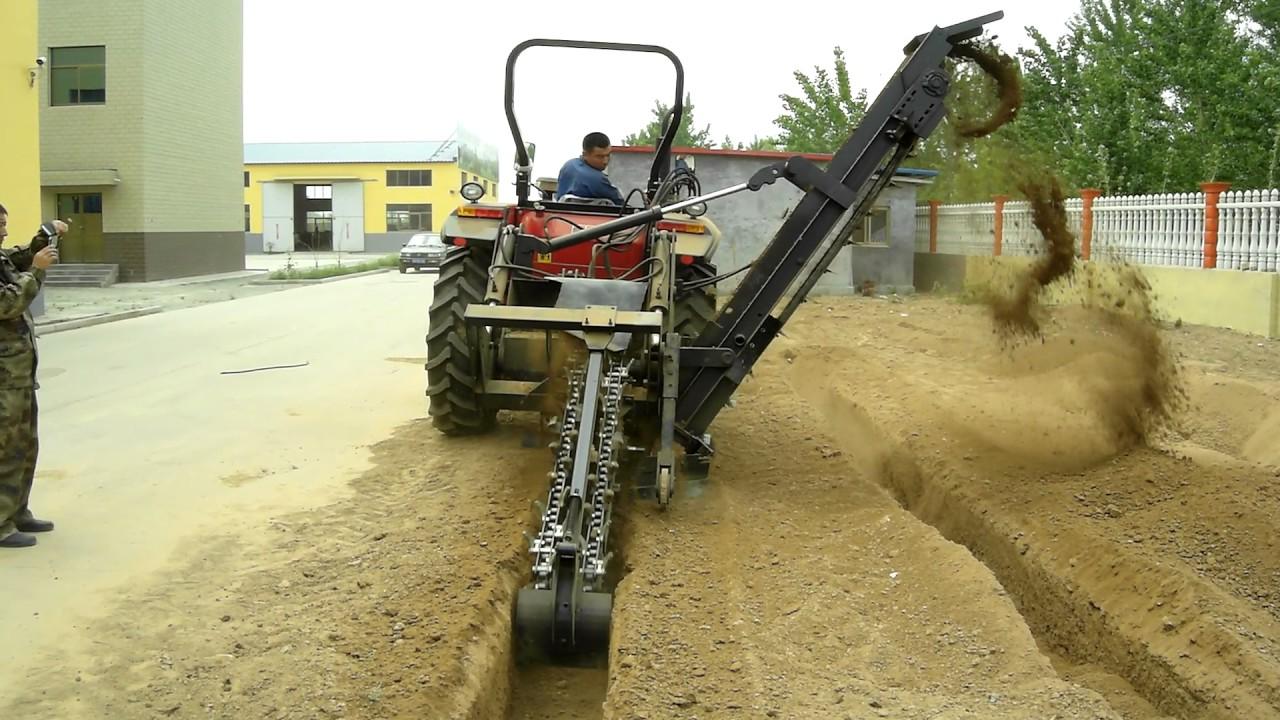 Trenching Machines Working : Hot trenching self loading machine from factory youtube
