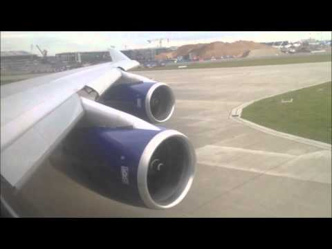 British Airways | 747-436 | Takeoff | London Heathrow | World Traveller Plus |